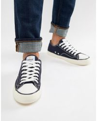 Farah - Vintage Percy Suede Trainers In Navy - Lyst