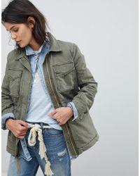 Abercrombie & Fitch - Faux Fur Lined Field Jacket - Lyst
