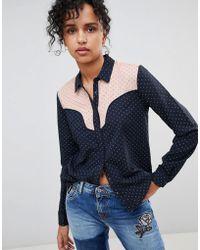Pepe Jeans - Paula Western Style Shirt - Lyst
