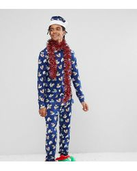 Chelsea Peers - Christmas Pyjamas Set With Santa Hat Rubber Duck - Lyst