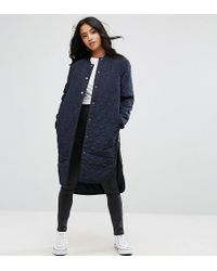 Noisy May Petite | Quilted Padded Jacket | Lyst