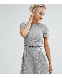 Little Mistress   Allover Lace Crochet Mini Skater Dress   Lyst