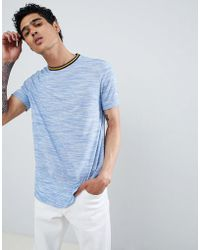 ASOS - T-shirt With Contrast Tipping In Blue Inject - Lyst