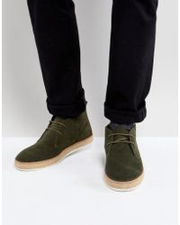 Dune - Desert Boots With Espadrille Sole Khaki - Lyst