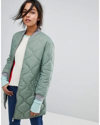 MAX&Co. | Max&co Quilted Bomber Jacket | Lyst