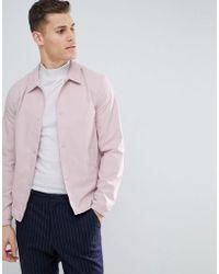 Reiss - Coach Jacket In Pink - Lyst