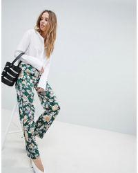 Vila - Floral Trouser - Lyst