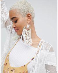 ASOS - Design Statement Macrame Woven Dreamcatcher Earrings - Lyst