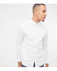 ASOS - Tall Smart Slim Ditsy Shirt - Lyst