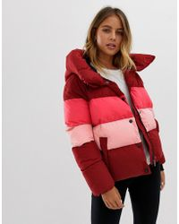 ONLY - Mari Colourblocked Tube Quilted Jacket - Lyst