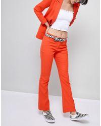 ASOS - Design Zebra Tipped End Circle Buckle Jeans Belt - Lyst