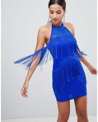 AX Paris - Tassle Trim Dress - Lyst