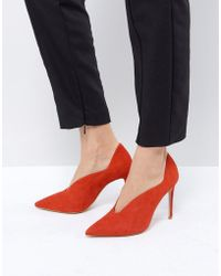 Reiss - Pointed Court Shoe - Lyst