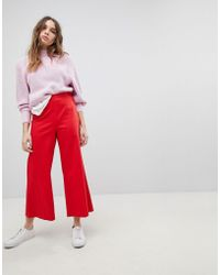 MAX&Co. - Max&co Wide Leg Cropped Trousers - Lyst