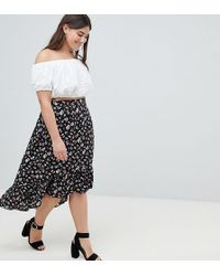 AX Paris - Ditsy Floral Drop Hem Skirt - Lyst