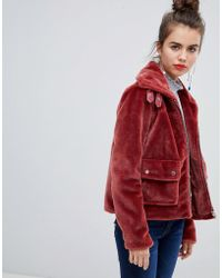 Urban Bliss - Teddy Jacket With Buckle Detail - Lyst
