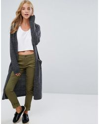 Vila - Knitted Long Cardigan - Lyst