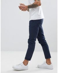 Solid - Chino In Navy - Lyst