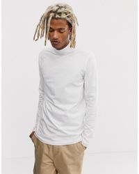 Weekday - Ted Rib Turtleneck In White - Lyst