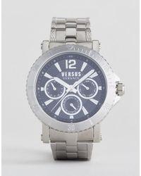 Versus - Steenberg Vsp520418 Chronograph Bracelet Watch In Silver 45mm - Lyst
