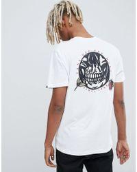 d7125d2c971f6d Vans T-shirt With Off The Wall Back Print In White V5y0wht in White ...