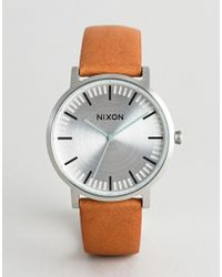 Nixon - A1058 Porter Leather Watch In Tan - Lyst