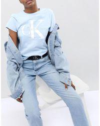 CALVIN KLEIN 205W39NYC - Jeans Belt With Logo - Lyst