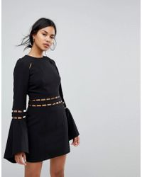fd062e290 Finders Keepers - Finders Solar Fluted Sleeves Mini Dress - Lyst