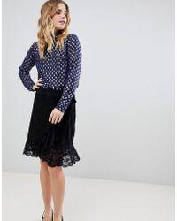 Ichi - Lace Wrap Skirt - Lyst