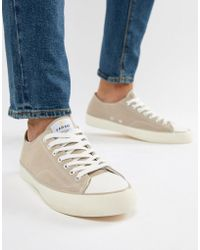 Farah - Vintage Percy Suede Trainers In Stone - Lyst