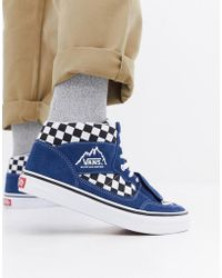 fbd4bffeee Vans - Mountain Edition Checkerboard Trainers In Blue Vn0a3tkgu9h - Lyst