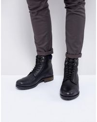 Kurt Geiger | Rayn Lace Up Boots In Black | Lyst