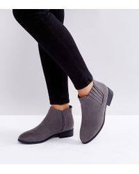 New Look - Suedette Flat Ankle Boot - Lyst