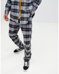 ASOS - Asos X Unknown London Relaxed Trousers In Check Flannel - Lyst