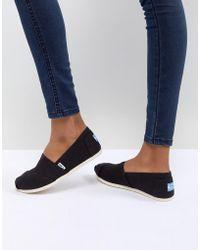 TOMS - Classic Black Canvas Shoes - Lyst