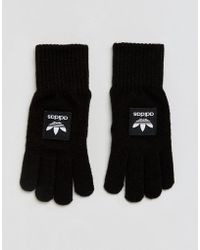 adidas Originals - Adidas Gloves With Contrast Branding In Black - Lyst