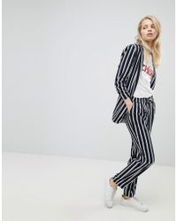 ONLY - Striped Trouser - Lyst