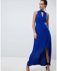 Coast - Kimley Tie Up Maxi Dress - Lyst
