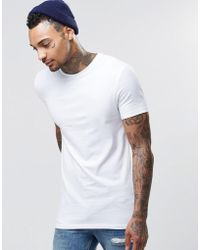 ASOS - Longline Muscle T-shirt In White - Lyst