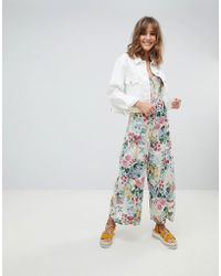 Mango - All Over Floral Strappy Jumpsuit In Multi - Lyst