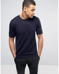 French Connection - Crew Neck Knitted Top With Pocket - Lyst