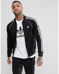 adidas Originals - Adicolor Track Jacket In Black Cw1256 - Lyst