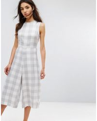 Native Youth | Relaxed Jumpsuit With Tie Waist In Large Gingham | Lyst
