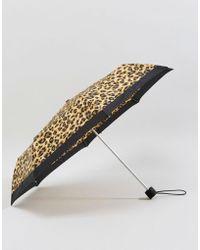 Fulton - Minilite 2 Painted Leopard Umbrella - Lyst