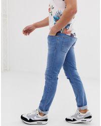 7e99f42b DIESEL Jeans Sleenker 673e Skinny Fit Stretch Light Blue Wash in Blue for  Men - Lyst
