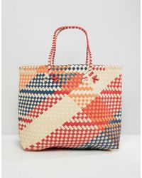 Mango - Weaved Shopper In Multi - Lyst