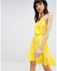 Vero Moda - Ruffle Wrap Dress - Lyst