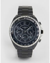Police - Navy Black Bracelet Watch With Black Multi Functional Dial - Lyst