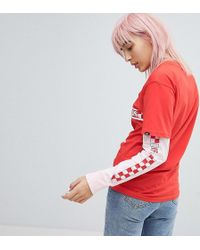 Vans - Exclusive To Asos Double Layer T-shirt In Red And Pink - Lyst