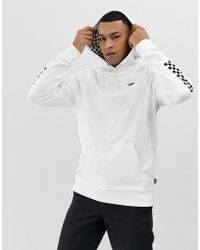 Vans Hoodie With Checkerboard And Taping In Black Exclusive To Asos ... 0740e96c3